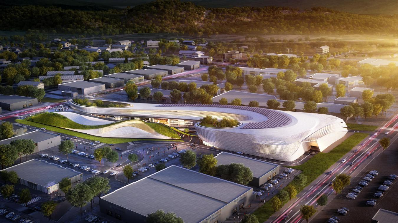 Evalué à 16 millions d'euros, le projet Open Sky comprend trois pôles sur 12 730 m 2  : les commerces, les espaces de loisirs et la restauration.