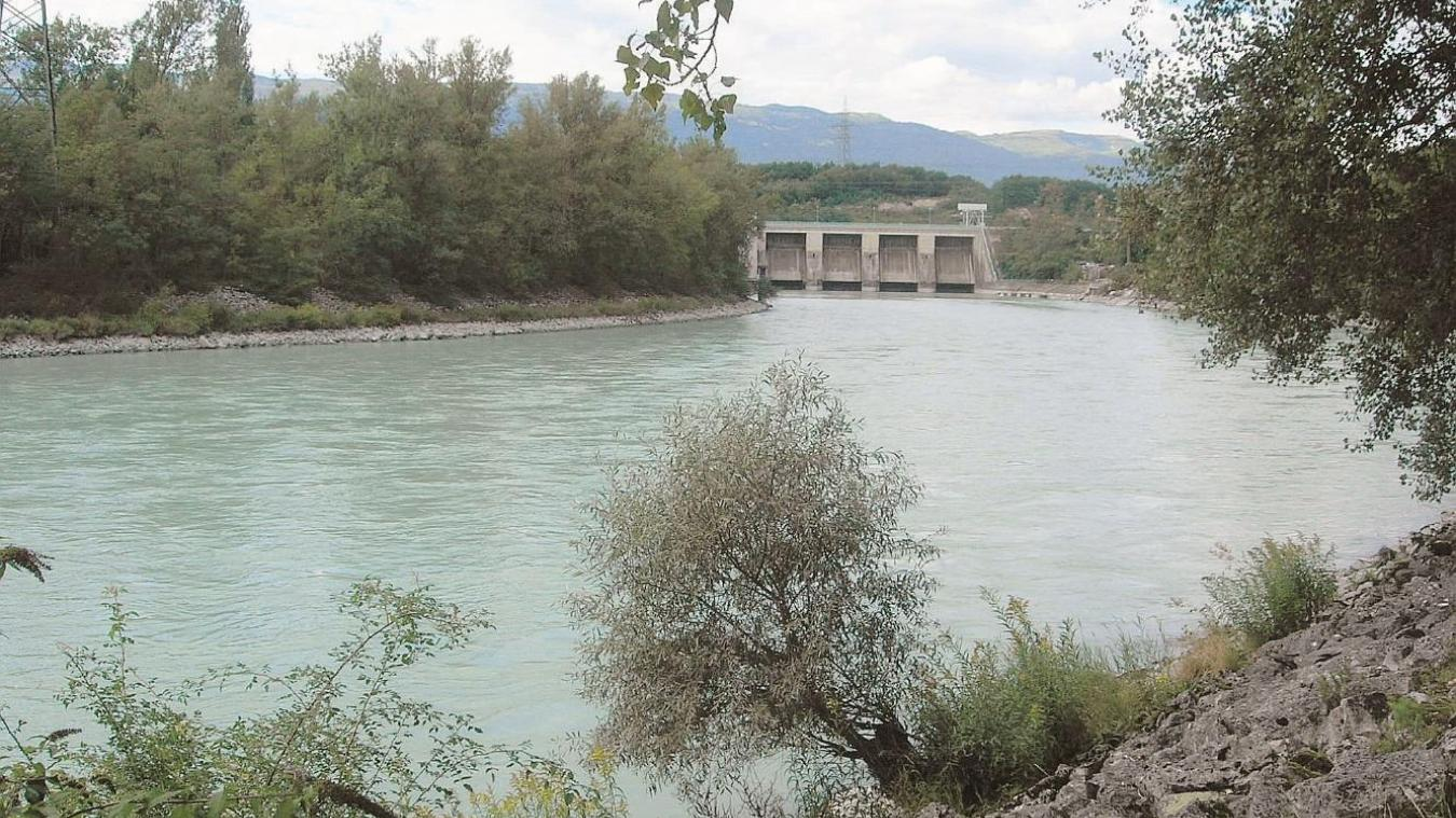 Le barrage de Verbois.