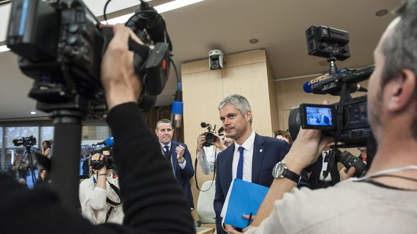 En 2015, lors de son élection, Laurent Wauquiez promettait des « économies ». Quatre ans plus, d'après la Cour des comptes, le contrat est rempli. Photo : Marc Chatelain.