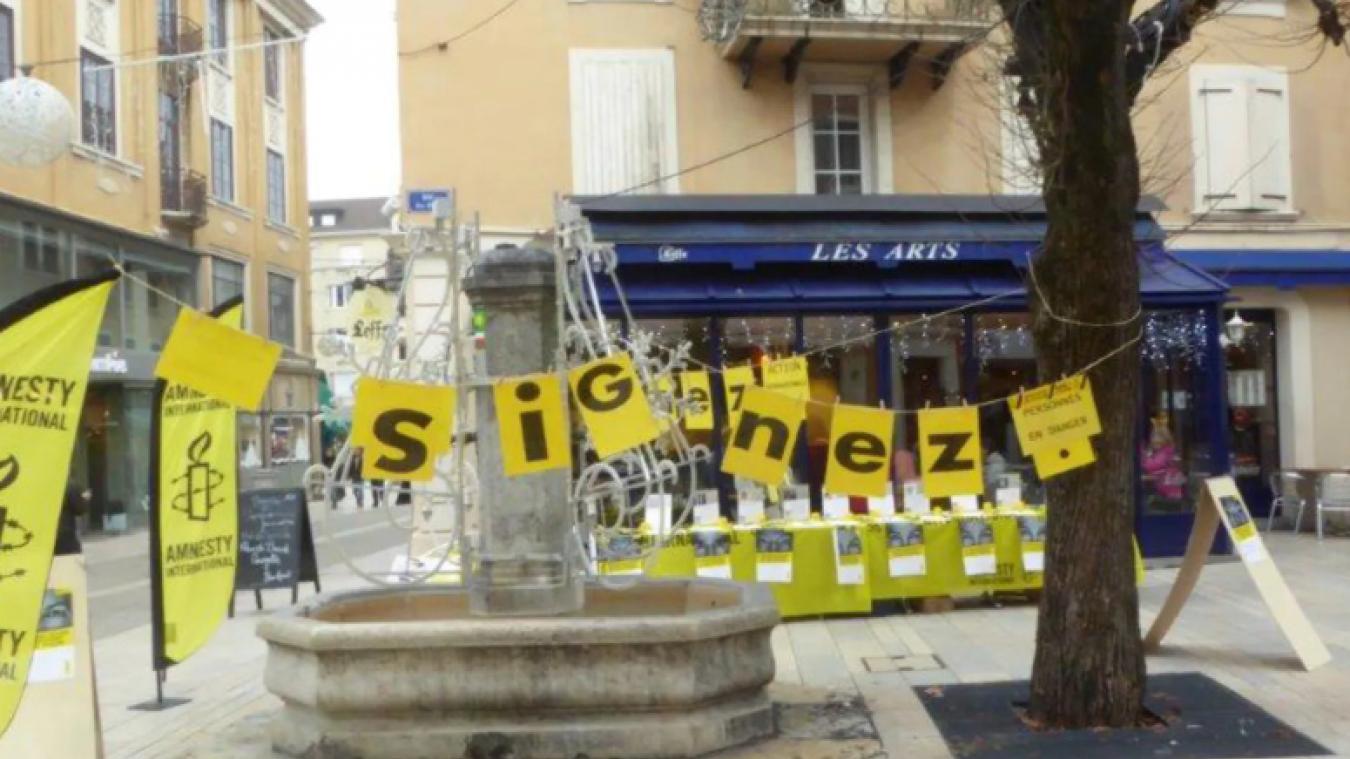 Le secrétaire du Rassemblement national pour le canton de Thonon-les-Bains demande au maire de Thonon « d'interdire fermement aux associations immigrationistes », dont Amnesty International, l'accès aux rues de la ville (photo d'archives).