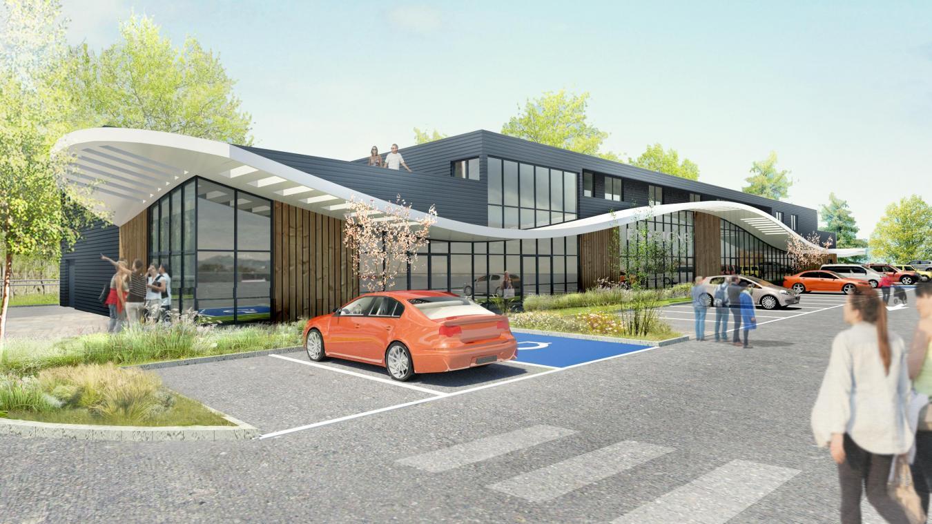 L'ouverture de ce futur centre commercial est espérée au trimestre 2021.