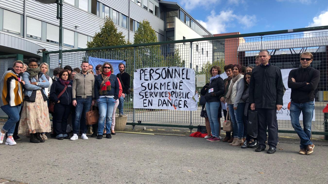 Thonon: le personnel du lycée de la Versoie est en grève