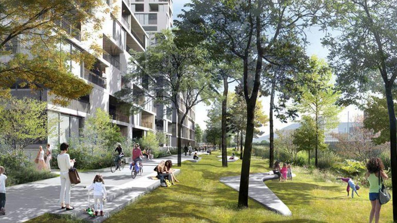 L'écoquartier de la Zac Etoile Annemasse Genève s'étendra sur 19,4 hectares et a été un point important du conseil communautaire du 25 septembre. © Devillers