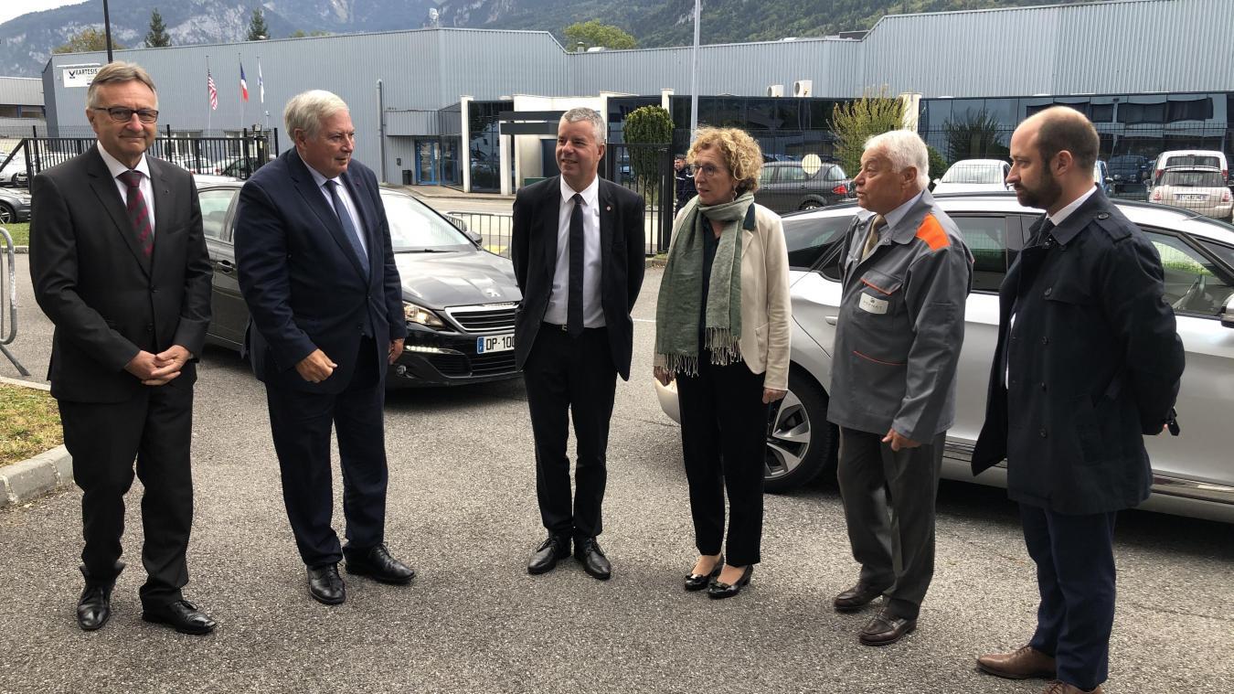 (VIDÉO & PHOTOS) La ministre du Travail, Muriel Pénicaud en visite dans la vallée de l'Arve