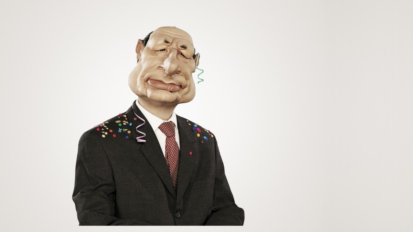 La marionnette des Guignols de l'Info a contribué à populariser Jacques Chirac, notamment lors de la campagne électorale en 1995.