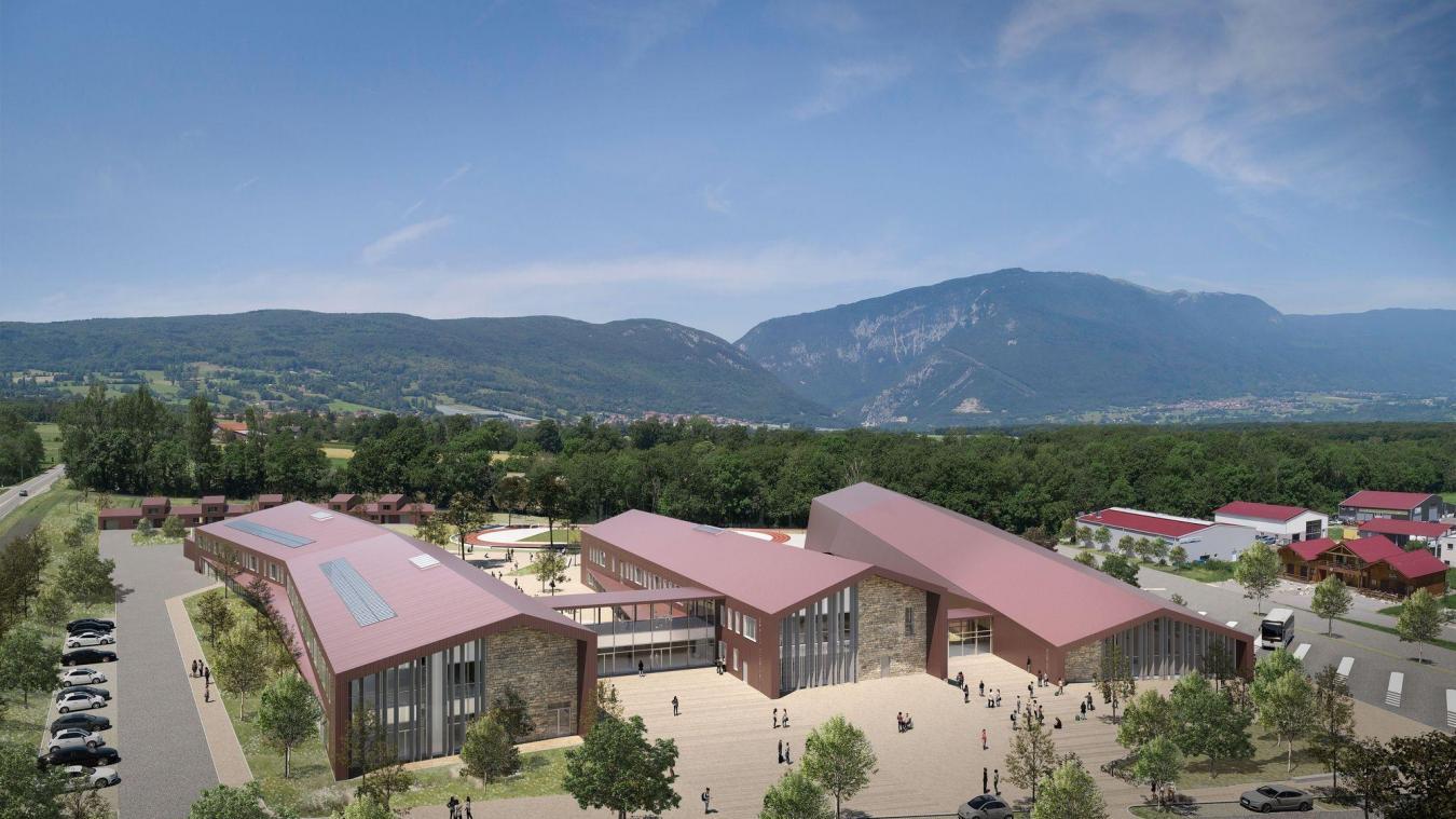 Le projet du futur collège du Vuache.