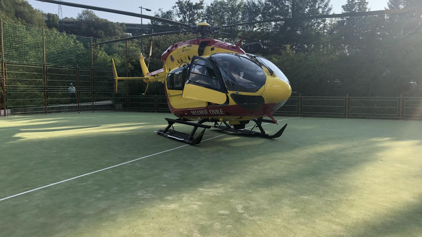 L'hélicoptère s'est posé à proximité de l'école de Parozet. (Photo d'illustration)