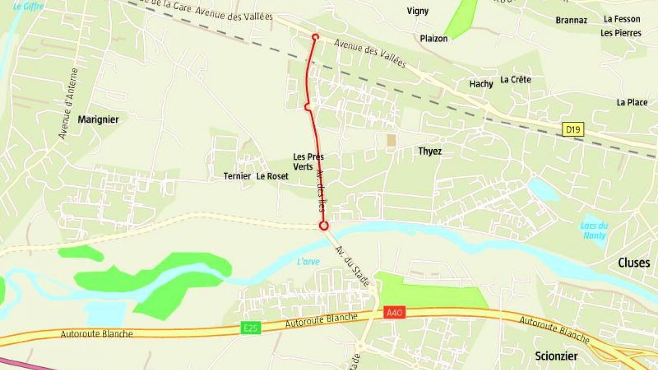 Thyez: intervention en cours fuite de gaz avenue des Iles