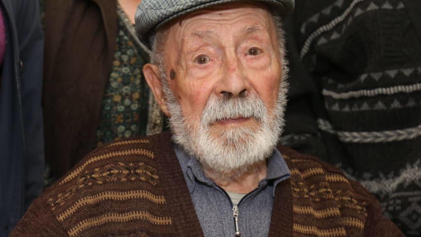 Né le 20 mars 1908, Roger Auvin était le doyen des Français. Il est mort dimanche 13 octobre à l'âge de 111 ans. © Photo NR