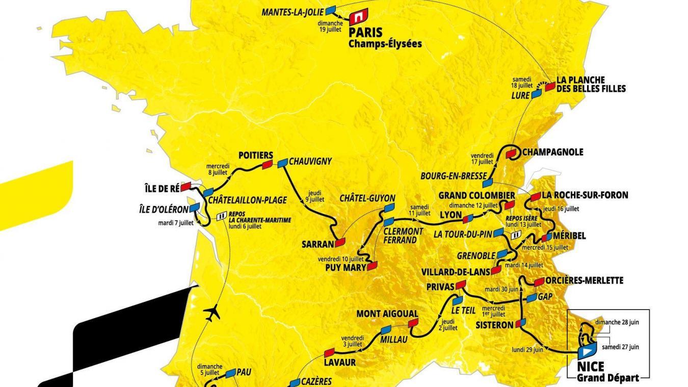 Découvrez le parcours du Tour de France 2020