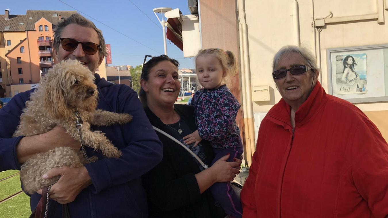 Didier, Manuela, Noelli et Arlette étaient présents pour le premier trajet du tramway Genève-Annemasse.