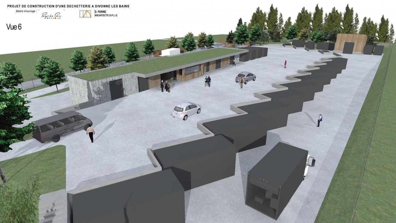 Le quai d'une grande surface accueillera 15 bennes.
