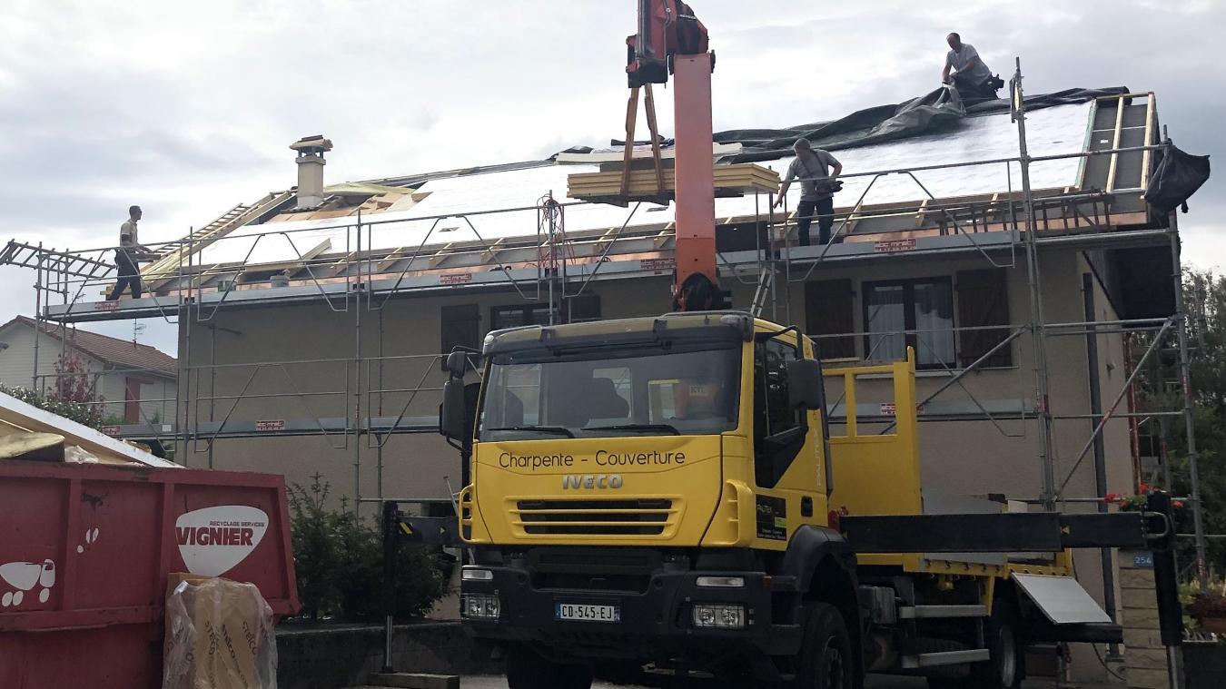 A Valleiry, un chantier regenero est mené, afin d'améliorer l'isolation alors que les combles sont aménagés.