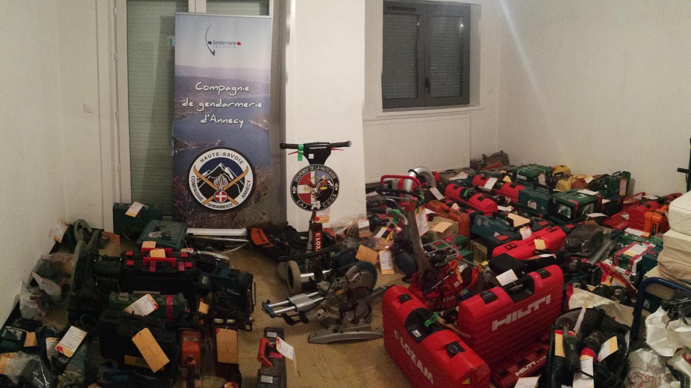 Du matériel d'outillage, des ordinateurs ou encore de l'électroménager ont été saisis par les gendarmes de Haute-Savoie