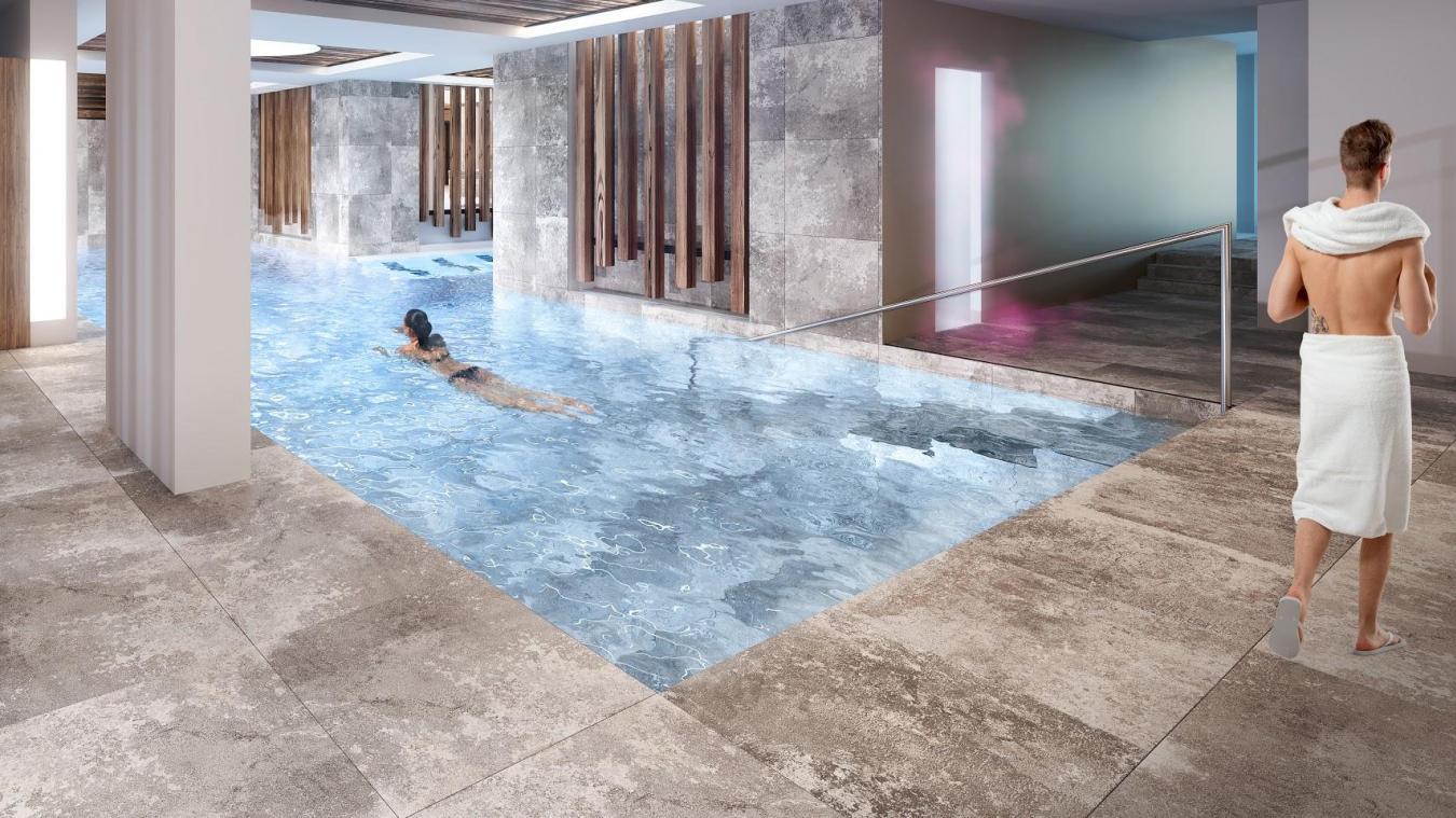 Le spa des Sources du Chéry, d'une surface de 1 000 m 2 , fermera trois mois dans l'année, hors des saisons touristiques.