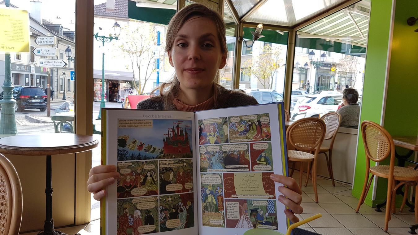 Tamia Baudouin, la jeune habitante de Feigères sollicitée par Casterman.