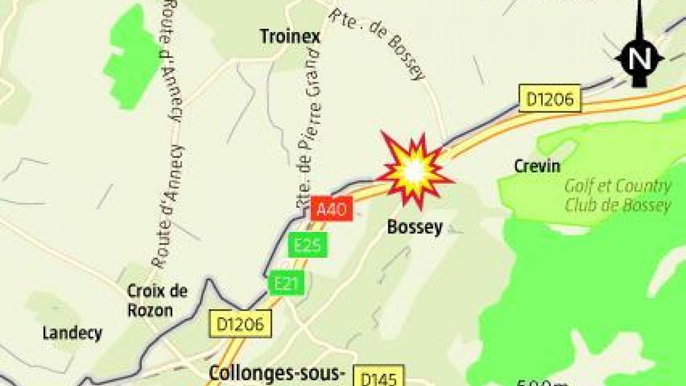 Bossey : grave accident de la circulation