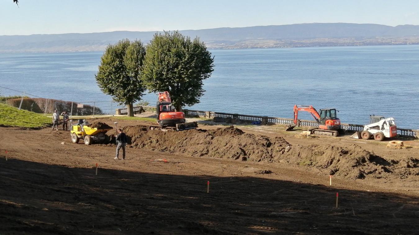 Le montant de l'aménagement du skatepark d'Evian, dont le terrassement est en cours (ci-dessous)  est estimé à 260 000 euros.