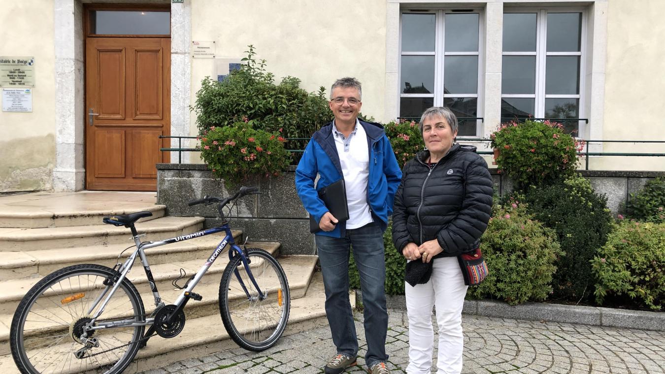 Marc Issenhuth et Pauline Calliari font partie des six membres de l'association Vivre en vallée Verte.