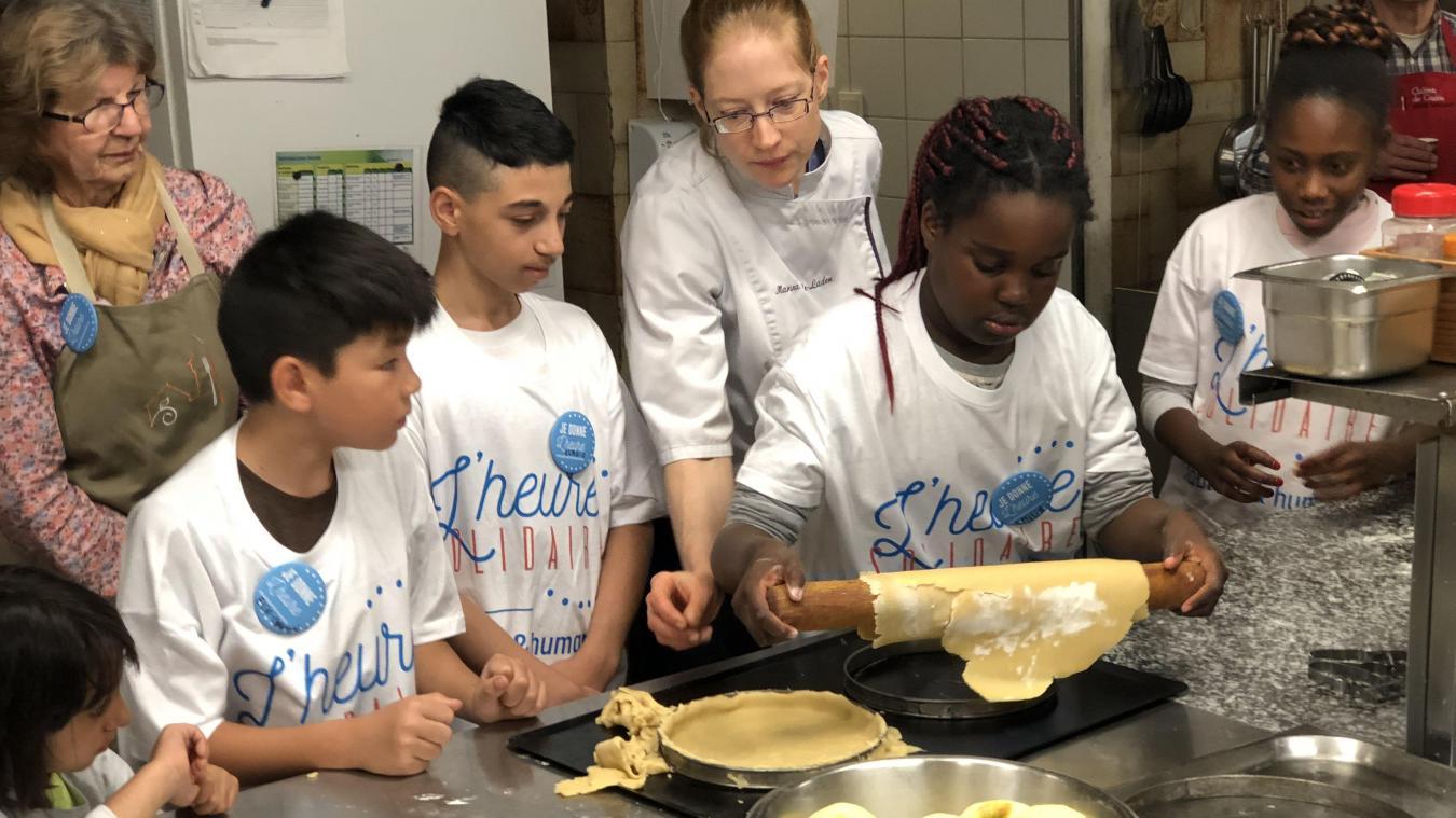 Les huit enfants ont suivi les consignes de la cheffe étoilée Marina Reale-Laden.