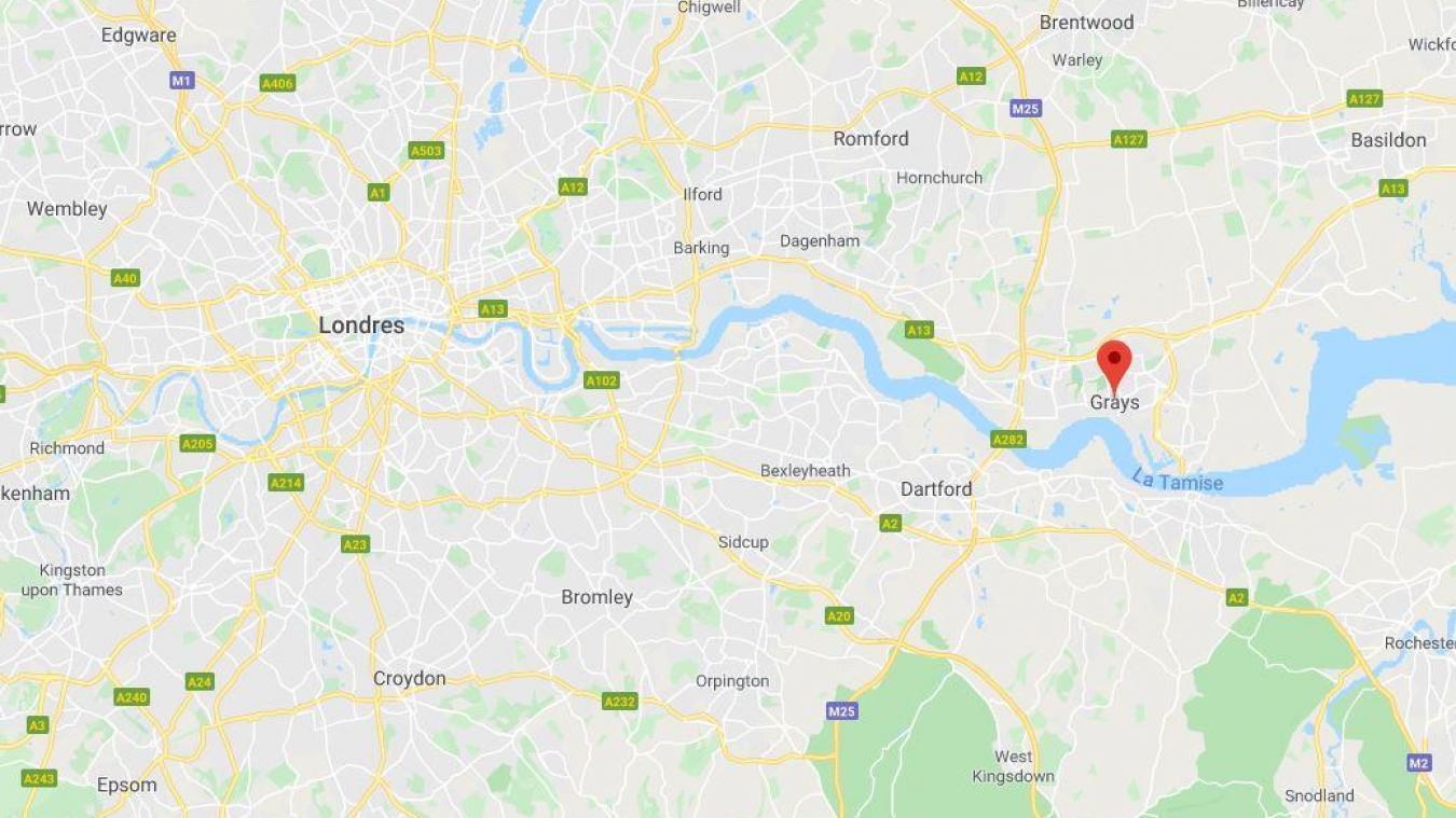 Trente-neuf corps ont été découverts dans un camion dans la nuit de mardi à mercredi à Grays dans l'Essex, à l'est de Londres.
