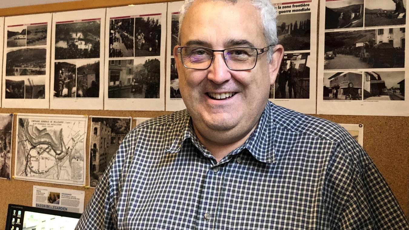 Eric Toiseux, responsable du Groupe Mémoire, présidé par Jean-Pierre Fillion.