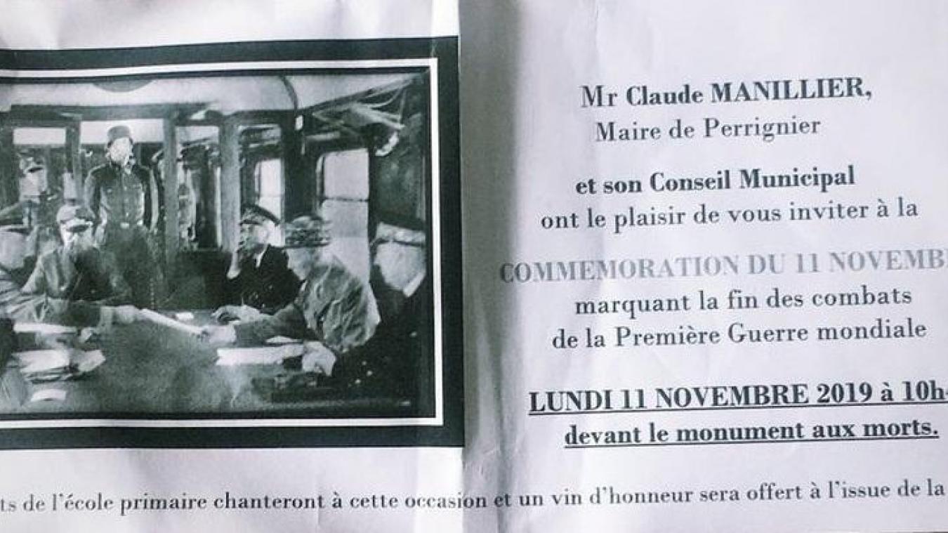 Perrignier: une photo de l'armistice de la Seconde Guerre mondiale... sur l'invitation du 11-novembre