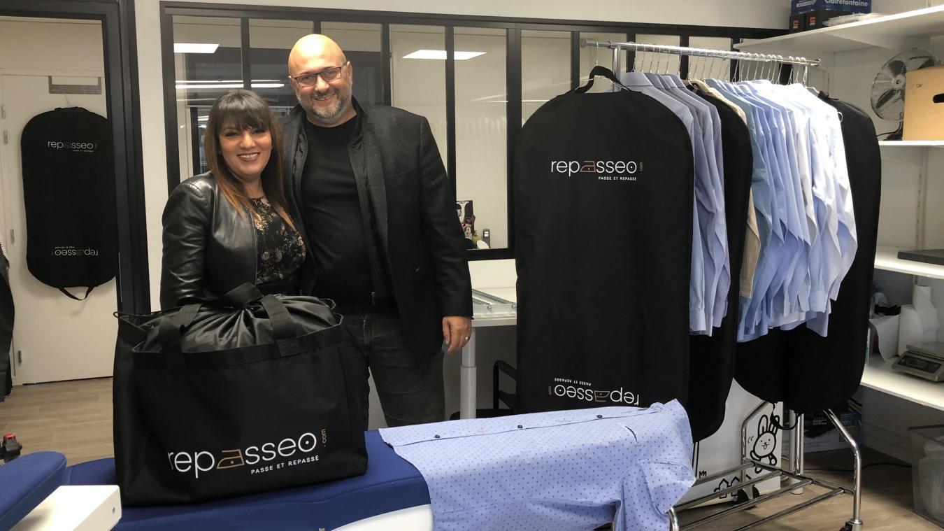 Noria Belkheiri et Laurent Iraqi ont lancé Repasseo en avril dernier.