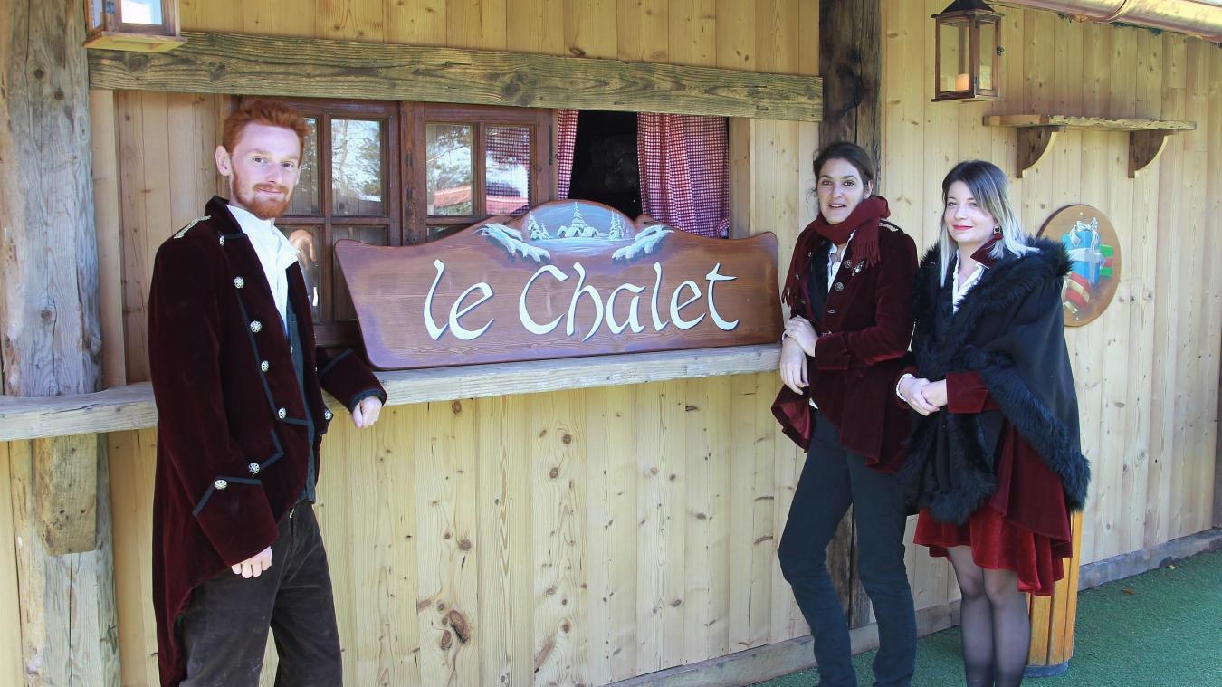 Le chalet, nouveau lieu de restauration rapide au Hameau du Père Noël, à Saint-Blaise, près de Cruseilles.