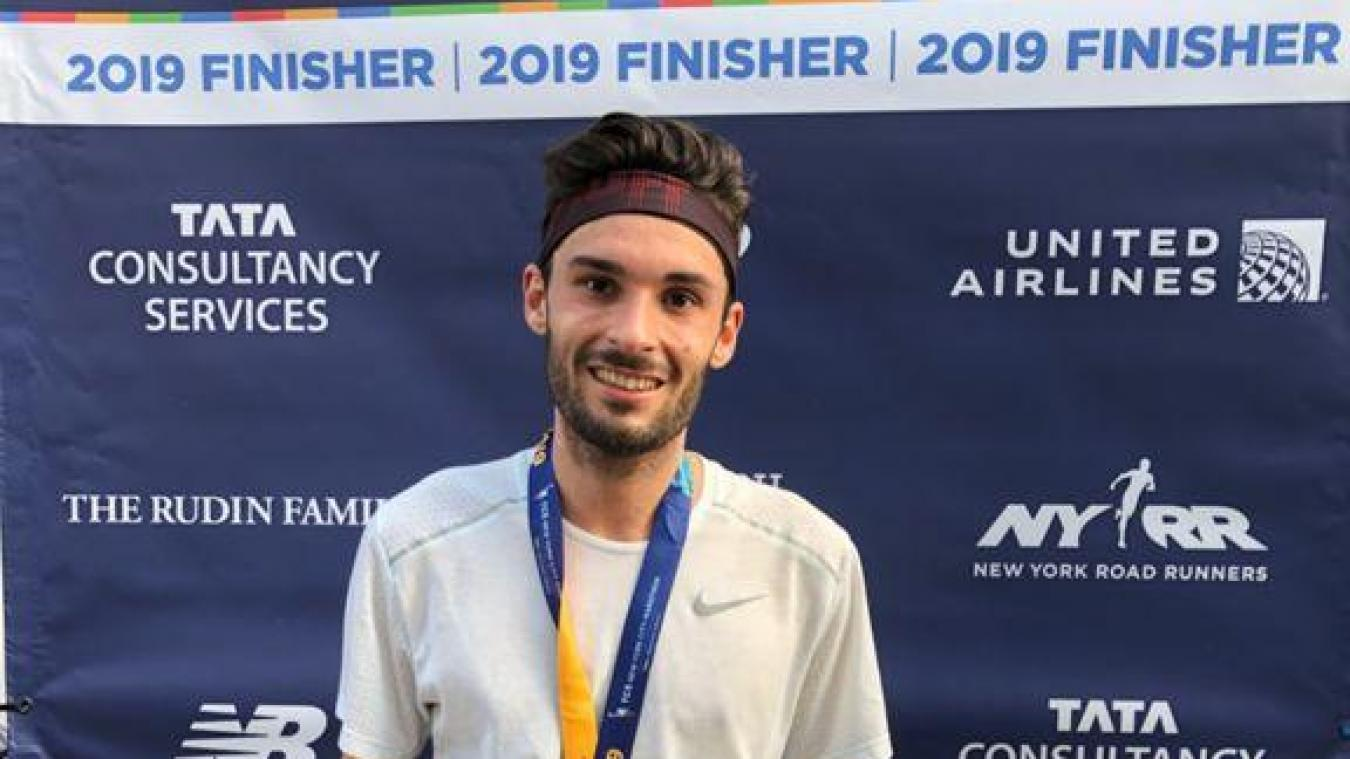 Melvyn Bracon, un jeune coureur originaire d'Annemasse, a été époustouflant lors du marathon de New York, dimanche 3 novembre. (DR)