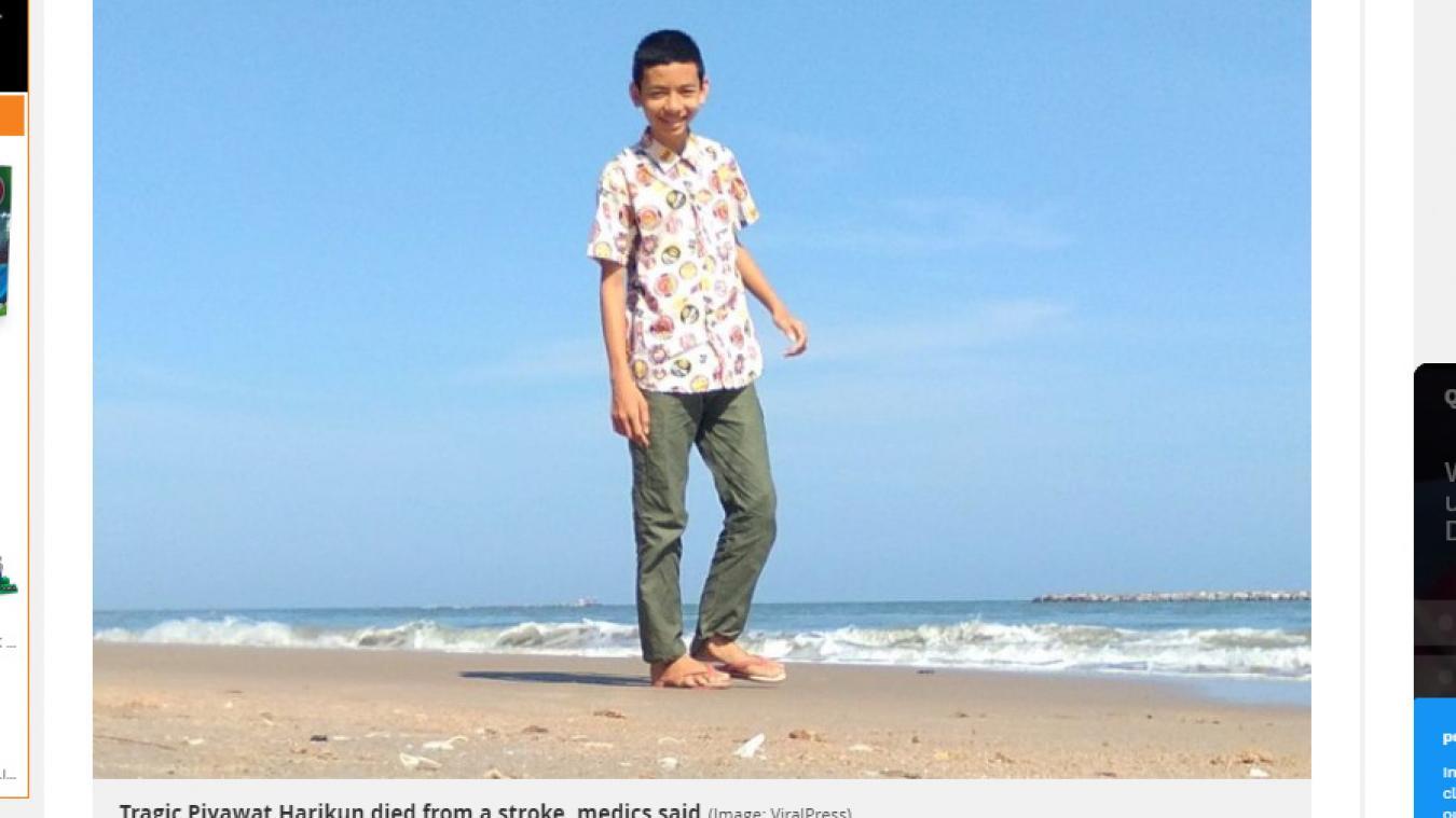 Piyawat Harikun, un adolescent thaïlandais est mort lundi 4 novembre à la suite d'un accident vasculaire cérébral, probablement causé par ses nombreuses sessions de jeu pendant la nuit.