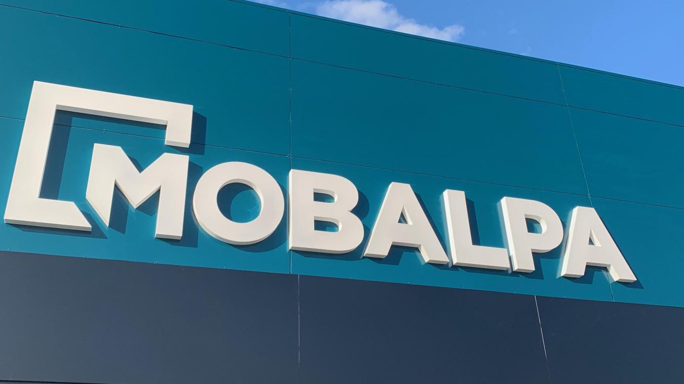 Si la couleur autour du logo laisse une impression de bleu, c'est bien du « vert canard » qu'a présenté la direction de Mobalpa. (Photo Mobalpa)