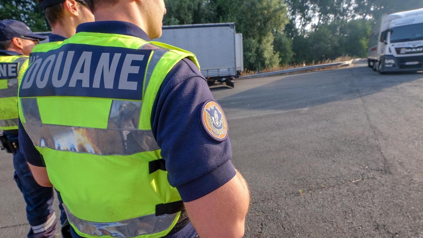 C'est lros d'un contrôle routier que les douaniers ont découvert les animaux. Photo La Voix