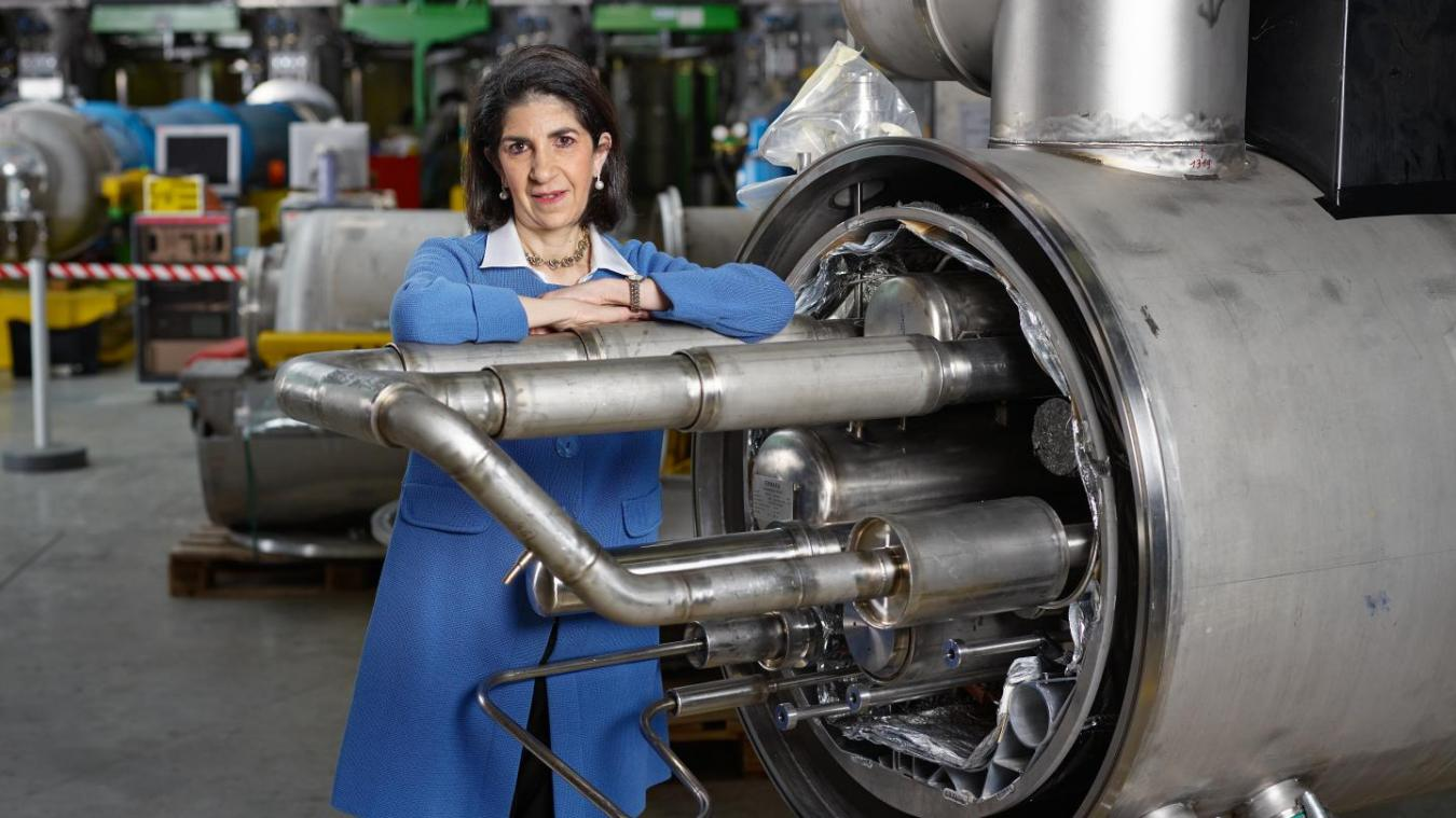 Fabiola Gianotti, une femme et une scientifique exceptionnelle.