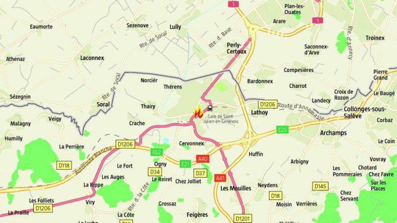 Jeudi 7 novembre, un incendie nécessite l'évacuation d'un immeuble à Saint-Julien-en-Genevois.