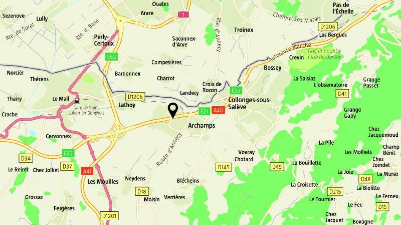 Jeudi 7 novembre, un homme de 38 ans à fait un AVC sur l'autoroute à hauteur d'Archamps.