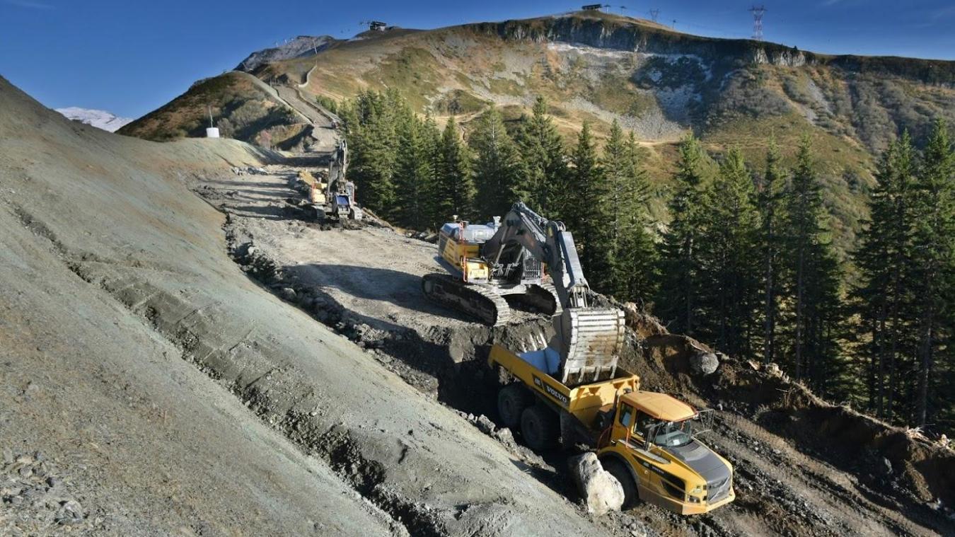 Les Carroz-d'Arâches : des travaux dantesques pour élargir la piste Perce-Neige