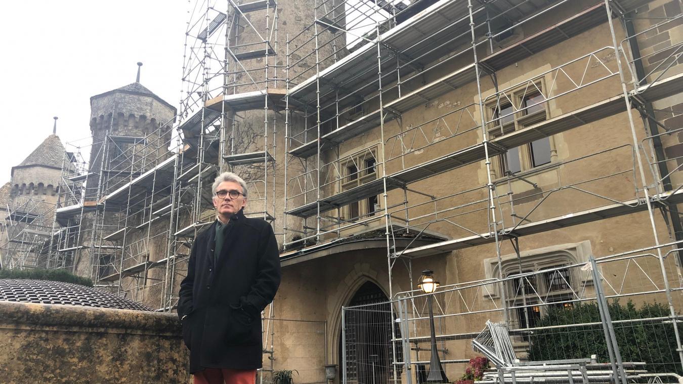Gaël Robin, architecte du patrimoine, va suivre le chantier de Ripaille de très près pour s'assurer que les lieux soient respectés.