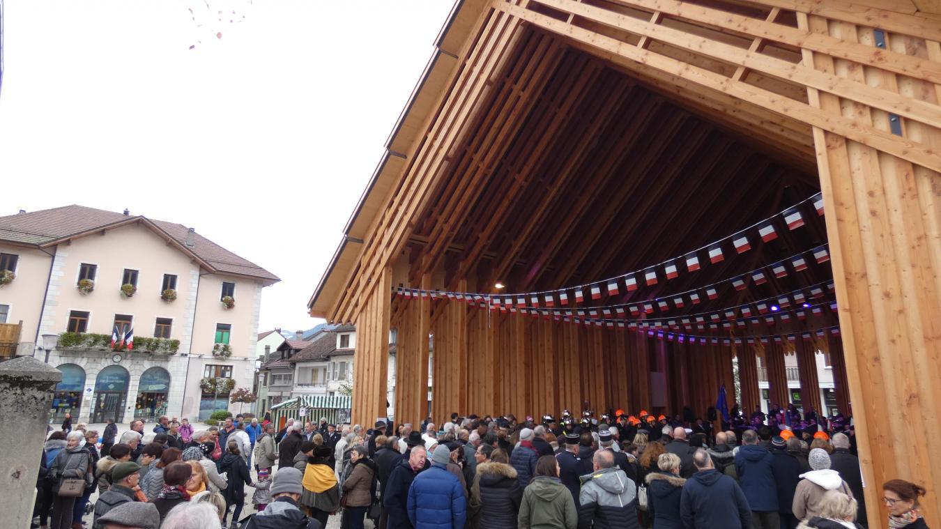 La halle a accueilli la cérémonie du 11 novembre.