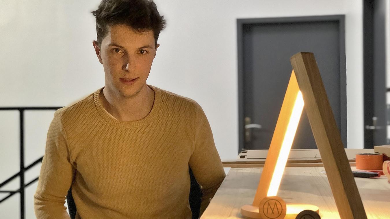 Pour protéger ses créations, notamment ses lampes, Maxime Lacroix souhaite déposer des brevets.