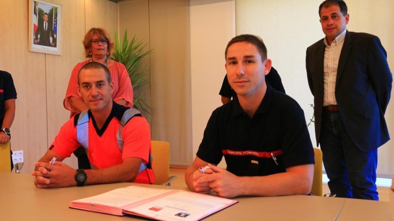 Chens-sur-Léman : signature d'une convention pour un employé communal, également pompier volontaire