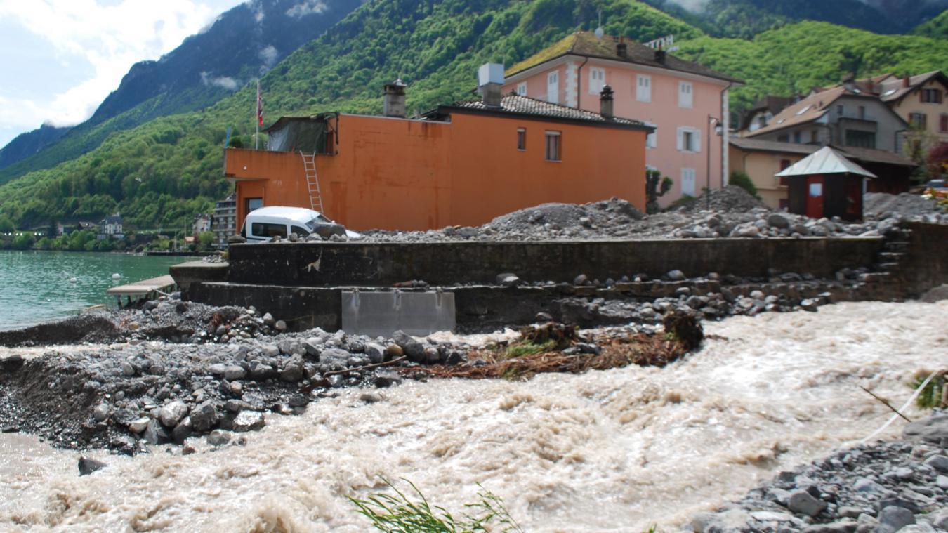 Des travaux d'urgence avaient été réalisés après les crues à Saint-Gingolph. Un projet d'aménagement de la Morge est en cours. L'enquête publique a récemment été réalisée.