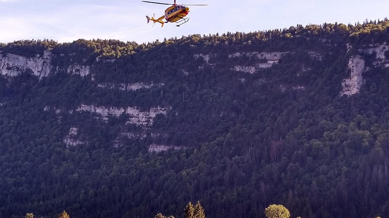 Un hélicoptère de la sécurité civile et des drones, équipés de caméras thermiques, ont été mobilisés.