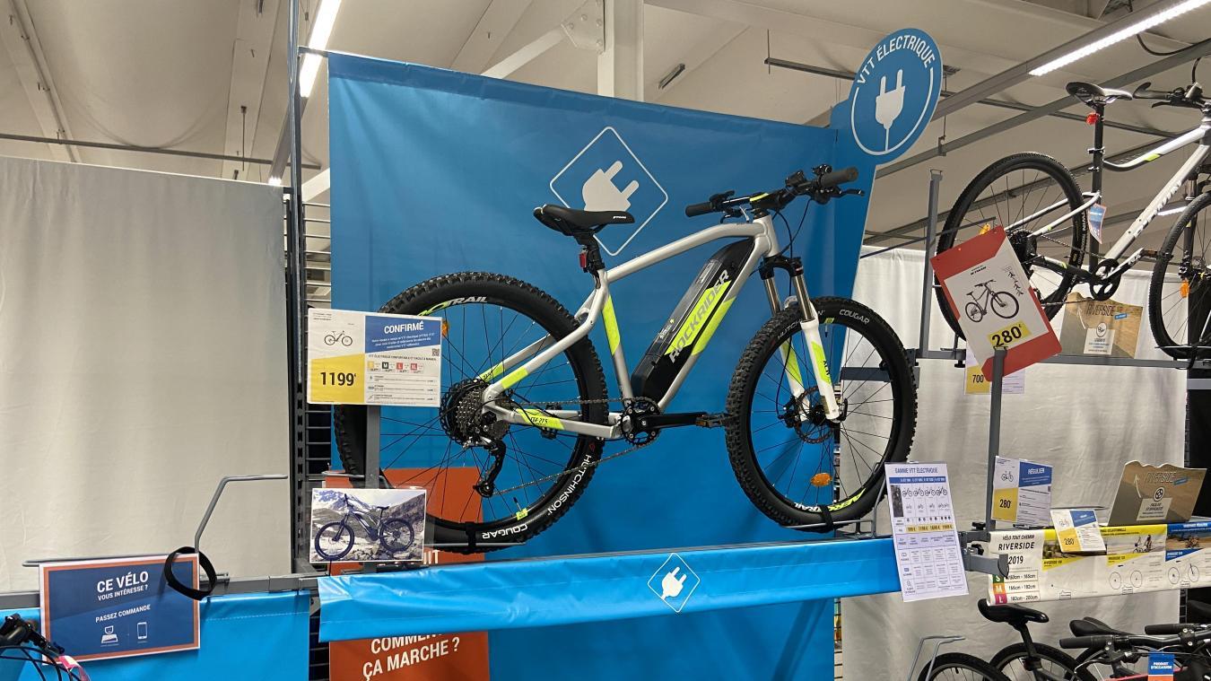 Impossible d'acheter un de ces vélos en magasin. Les modèles exposés sont déjà tous vendus.