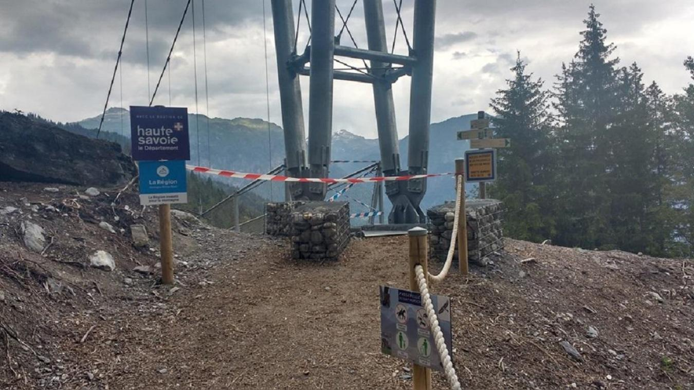 La réouverture de la passerelle ne devrait pas intervenir avant fin juillet.