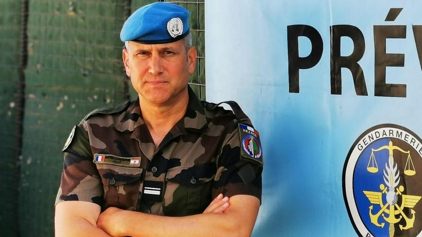 Le Major Bertrand a quitté Chamonix quelques mois pour le Liban où il est commandant de brigade prévôtale dans le cadre de l'opération Daman.