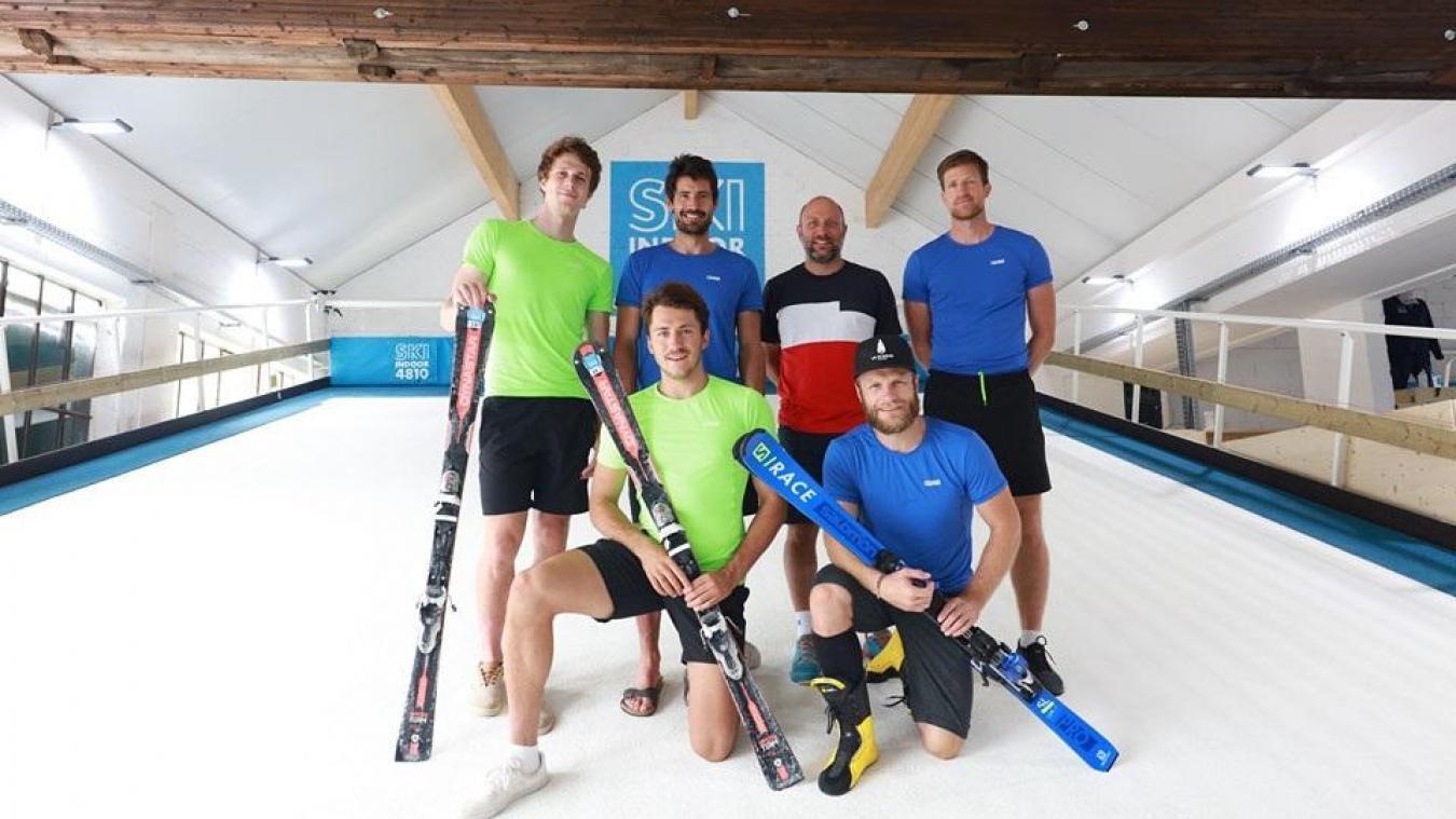 La crème du slalom français en préparation indoor à Passy