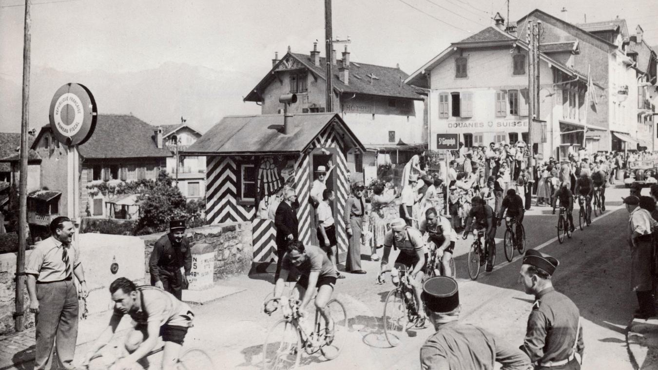 (Vidéo d'époque) En 1955, les coureurs du Tour de France passaient par Saint-Gingolph