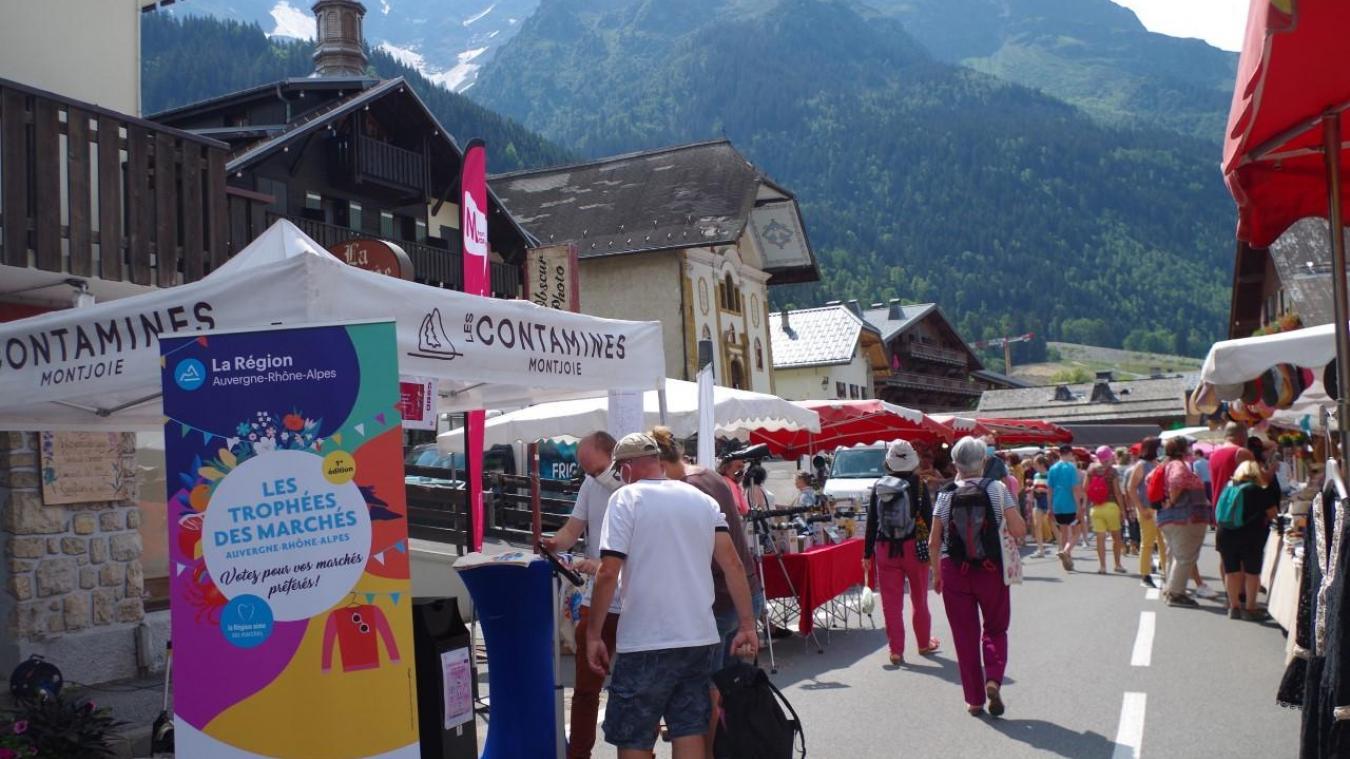 Le marché des Contamines en lice pour le premier trophée des marchés de la région Auvergne-Rhône-Alpes.