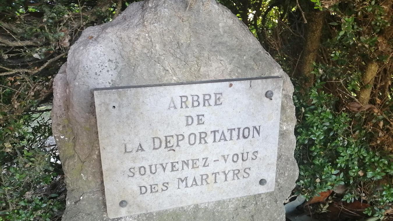 La stèle des déportés.